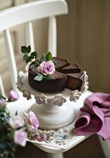 Wallpaper Torte Chocolate Rose Chairs Vase