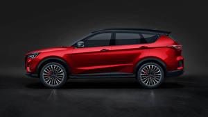 Fondos de escritorio Chery Rojo Metálico Lateralmente Crossover Jetour X70 Coupe, 2020 -- Coches