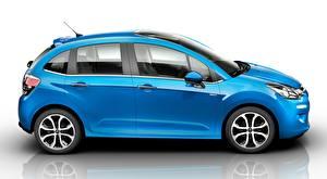 Bilder Citroen Spiegelt Seitlich Blau Hatchback, C3, 2015 auto