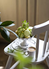 Fotos Kaffee Cappuccino Macaron Tasse Lebensmittel