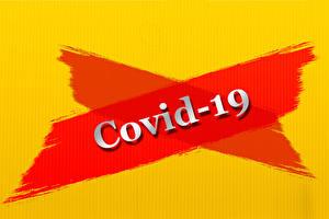 Bilder Coronavirus Wort Englisch Farbigen hintergrund