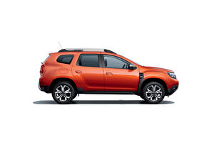 Picture Dacia Side Crossover Orange Metallic White background Duster, (Worldwide), 2021 Cars
