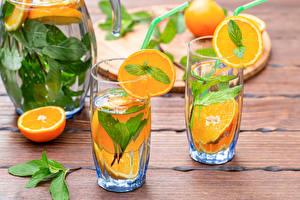 Desktop hintergrundbilder Getränk Orange Frucht Bretter Zwei Trinkglas das Essen