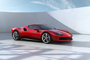 Fondos de escritorio Ferrari Rojo Metálico 296 GTB (F171), 2022 Coches