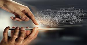 Fonds d'écran Doigts Main Smartphone Courrier