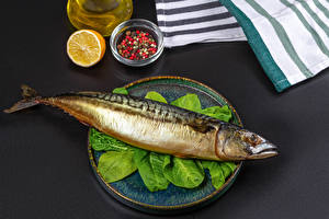 Wallpaper Fish - Food Black pepper Vegetables Gray background
