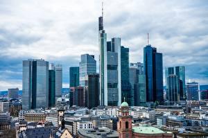 Bakgrunnsbilder Tyskland Skyskraper Frankfurt am Main