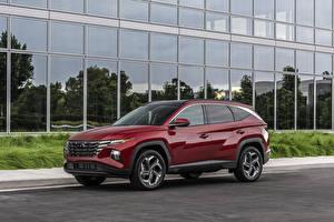 Fonds d'écran Hyundai Crossover Bordeaux couleur Métallique Tucson, (NX4), 2021 automobile