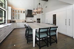 Fotos Innenarchitektur Design Küche Tisch Stuhl