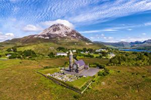 Fotos Irland Berg Landschaftsfotografie Kirchengebäude Donegal