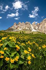 Fonds d'écran Italie Montagnes Alpes South Tyrol, Dolomites Nature