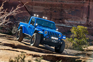 Desktop hintergrundbilder Jeep Sport Utility Vehicle Hellblau Pick-up 2019-20 J6 auto