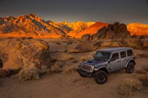 Обои Джип SUV Серый 2021 Wrangler Unlimited Rubicon 4xe Автомобили