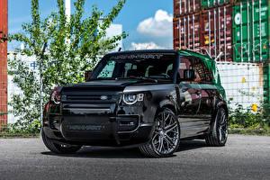 Fondos de Pantalla Land Rover Tuning Negro Metálico Manhart Defender DP500, 2021 Coches imágenes