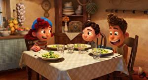 Desktop wallpapers Table Luca, Pixar, Walt Disney Cartoons