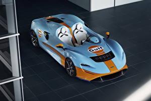 Fonds d'écran McLaren Bleu ciel Métallique Roadster 2020 MSO Elva Gulf Theme