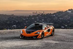 Desktop wallpapers McLaren Orange Metallic 2021 620R auto