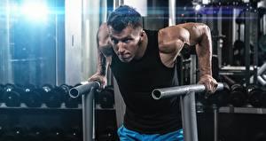 Papel de Parede Desktop Homem Ginásio Exercício físico Mão esporte