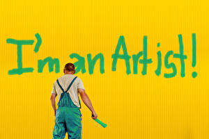 Fondos de escritorio Varón Palabra Ingleses Fondo de color I'm an artist
