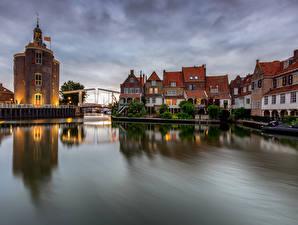 Photo Netherlands Building Rivers Bridges Enkhuizen