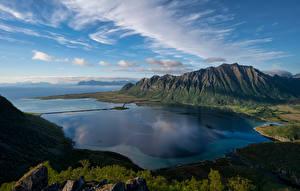 Hintergrundbilder Norwegen Gebirge Lofoten Küste Landschaftsfotografie Fjord