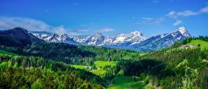 Hintergrundbilder Panorama Landschaftsfotografie Wald Österreich Ein Tal Alpen
