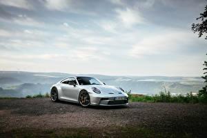 Fotos Porsche Silber Farbe Metallisch 911 GT3 Touring PDK, (Worldwide), (992), 2021