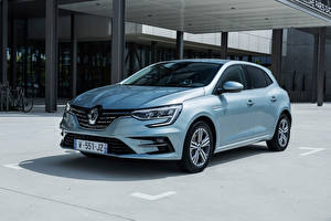 Papel de Parede Desktop Renault Prata cor Metálico Megane E-TECH Plug-in Hybrid, (Worldwide), 2021 carro