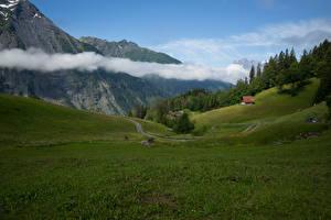 Fotos Schweiz Berg Grünland Landschaftsfotografie Wolke Uri Natur