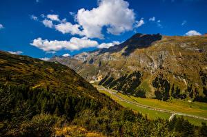 Bakgrunnsbilder Sveits Fjell Landskap Skyer San Bernadino Natur