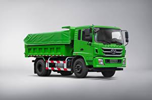 Tapety na pulpit Samochód ciężarowy Zielony Na szarym tle Chińskie Hongyan Genpaw, 2021 Samochody