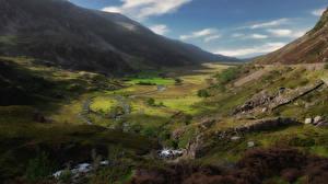 壁紙,英国,山,威爾士,谷地,Snowdonia,大自然,