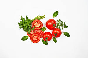 Images Vegetables Tomatoes White background