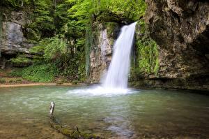 Fotos & Bilder Wasserfall Schweiz Felsen Basel-Land, Zeglingen Natur