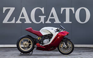Bakgrundsbilder på skrivbordet Sidovy 2016 MV Agusta F4Z Zagato motorcykel