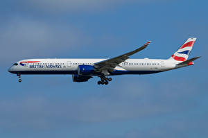 Wallpapers Airbus Airplane Passenger Airplanes Side A350-1000, British Airways Aviation pictures images