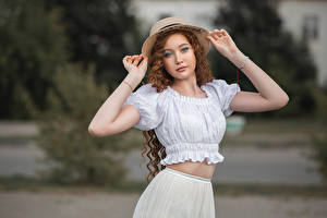 Bilder Pose Hand Der Hut Starren Bokeh Angelina Tikhonova, Vladimir Vasiliev