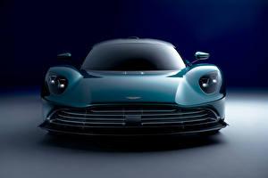 Tapety na pulpit Aston Martin Widok z przodu Zielony Metaliczna Valhalla, (Worldwide), 2021 samochód