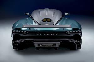 Tapety na pulpit Aston Martin Zielony Metaliczna Widok z tyłu Valhalla, (Worldwide), 2021 Samochody