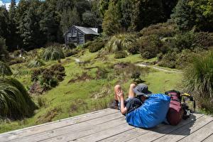 Bilder Australien Haus Rucksack Der Hut Ausruhen Tasmania Natur