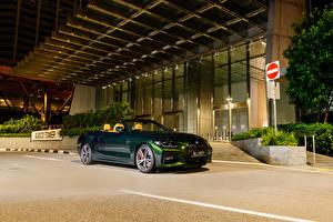 Tapety na pulpit BMW Convertible Zielony 2021 430i Cabrio M Sport samochód
