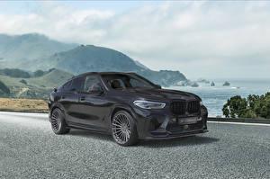 Fonds d'écran BMW Grise Métallique Crossover 2021 X6 M Competition Voitures