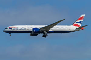 Wallpapers Boeing Airplane Passenger Airplanes Side 787-9, British Airways Aviation pictures images