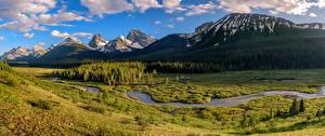 Sfondi desktop Canada Parco Montagna Panorama Paesaggio Nuvole Peter Lougheed Provincial Park Natura