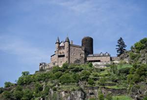 Bakgrunnsbilder Borg Tyskland Katz castle, Rhineland-Palatinate