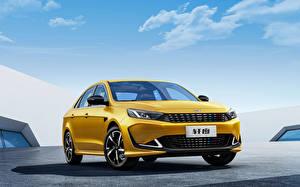 Bilder Chery Gelb Metallisch Chinesisches Cowin Xuandu, 2021 Autos