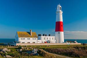 Fotos England Haus Leuchtturm Portland Bill Lighthouse Natur