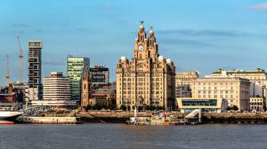 Hintergrundbilder England Gebäude Schiffsanleger Liverpool