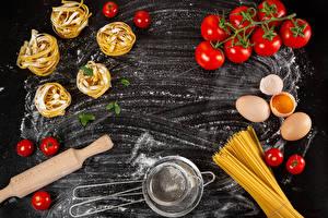 Bakgrunnsbilder Mjøl Tomater Makaroni Egg Mat