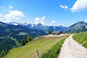 Fondos de escritorio Francia Montañas Carreteras Alpes Nube Upper Savoy